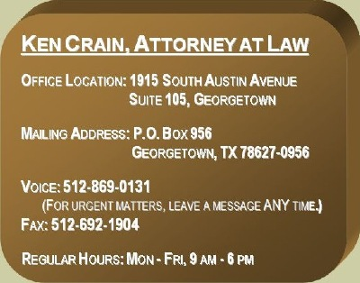 ken crain, attorney at law--when experience matters